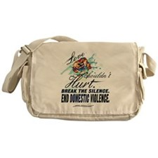 END DOMESTIC VIOLENCE -- Awareness Messenger Bag