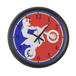Peewee Dirt Bike Large Wall Clock