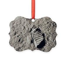 Footprint on Moon Ornament