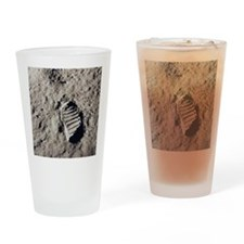 Footprint on Moon Drinking Glass