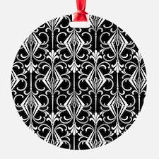Art Deco, Black, White, Silver Retro Ornament