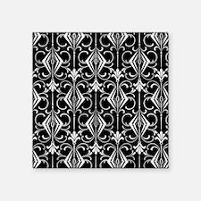 Art Deco, Black, White, Silver Retro Sticker