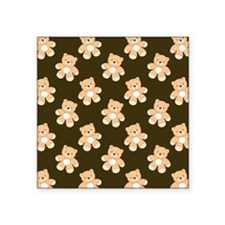 Brown Teddy Bear Pattern Sticker