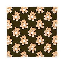 Brown Teddy Bear Pattern Queen Duvet