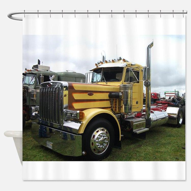 semi truck with bathroom. Truck Shower Curtain  Semi Bathroom Accessories Decor CafePress emotibikers com