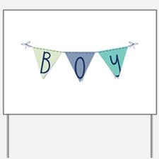 Boy Yard Sign