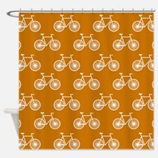 White Bicycle, Cycling Pattern; Burnt Orange Showe