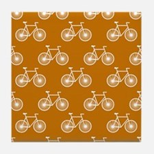 White Bicycle, Cycling Pattern; Burnt Orange Tile