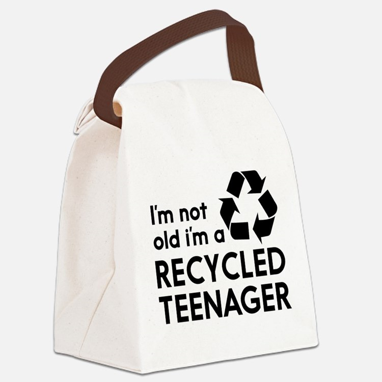 Im Not Old, Im a Recycled Teenager Canvas Lunch Ba