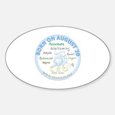 August 20th Birthday - Leo Personal Sticker (Oval)
