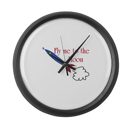 Fly me to the Moon Large Wall Clock