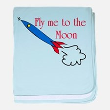 Fly me to the Moon baby blanket