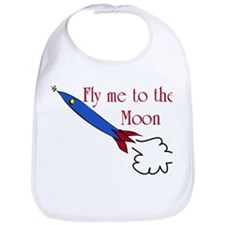 Fly me to the Moon Bib