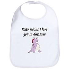 Rawr Means I Love You In Dinosaur Bib