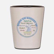 August 26th Birthday - Virgo Personalit Shot Glass