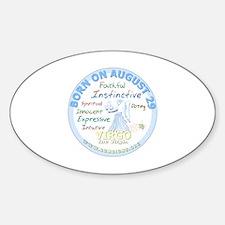 August 29th Birthday - Virgo Person Sticker (Oval)