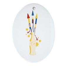 Bottle Rocket Ornament (Oval)