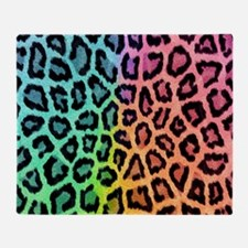 Colorful Leopard Throw Blanket