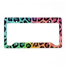 Colorful Leopard License Plate Holder