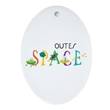 Outer Space Ornament (Oval)