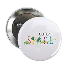 """Outer Space 2.25"""" Button"""
