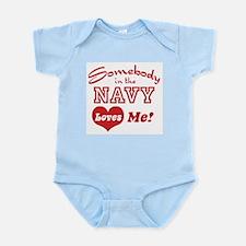Somebody in the Navy Loves Me Infant Bodysuit