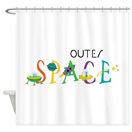 Outer Space Shower Curtain By Concord17