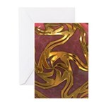 Faberge's Jewels -Red Greeting Cards (Pk of 20)