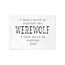 Outrun The Werewolf 1 5'x7'Area Rug