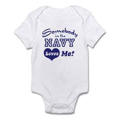 Somebody in the Navy Loves Me Infant Creeper