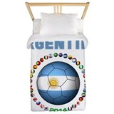Argentina soccer Twin Duvet Covers