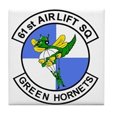 61st Airlift Squadron Tile Coaster