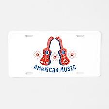 American Music Aluminum License Plate