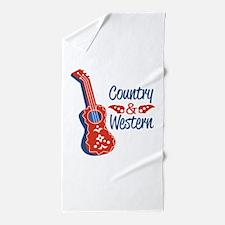 Country & Western Beach Towel
