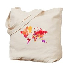 abstract world map with dots Tote Bag