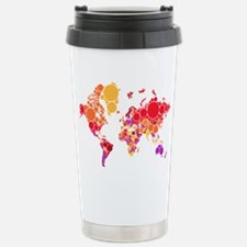 abstract world map with dots Travel Mug