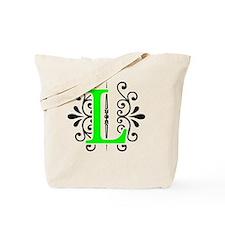 MONOGRAM FLORESCENT GREEN & BLACK Tote Bag