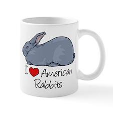 I Heart American Rabbits Mugs