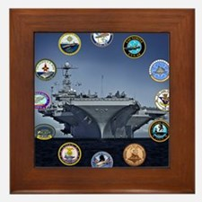 US Navy Nuclear Carrier Fleet Framed Tile