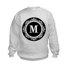 Black | White Scroll Monogram Sweatshirt