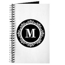 Black | White Scroll Monogram Journal