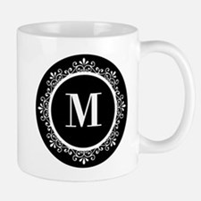Black | White Scroll Monogram Small Small Mug