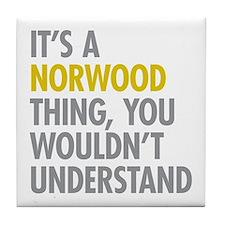 Norwood Bronx NY Thing Tile Coaster