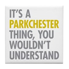 Parkchester Bronx NY Thing Tile Coaster