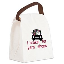 Brake for yarn shops Canvas Lunch Bag