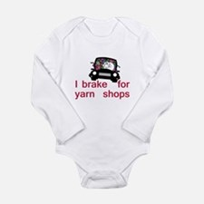 Brake for yarn shops Long Sleeve Infant Bodysuit