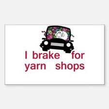 Brake for yarn shops Decal