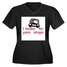 Brake for yarn shops Women's Plus Size V-Neck Dark