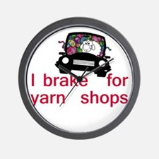 Brake for yarn shops Wall Clock