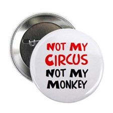 "circus monkey 2.25"" Button"